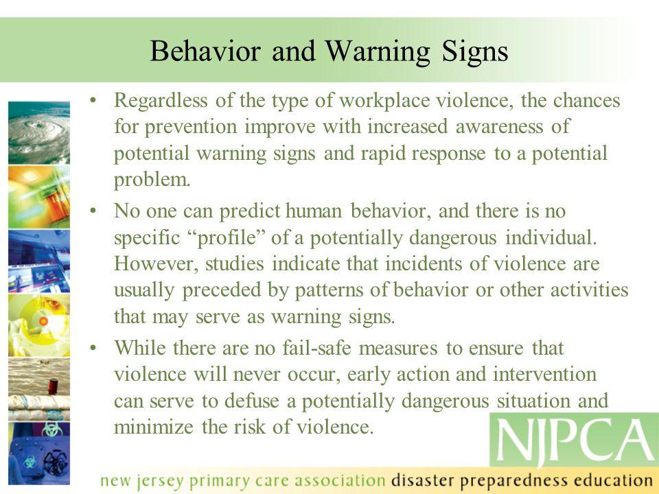 Behavior and Warning Signs