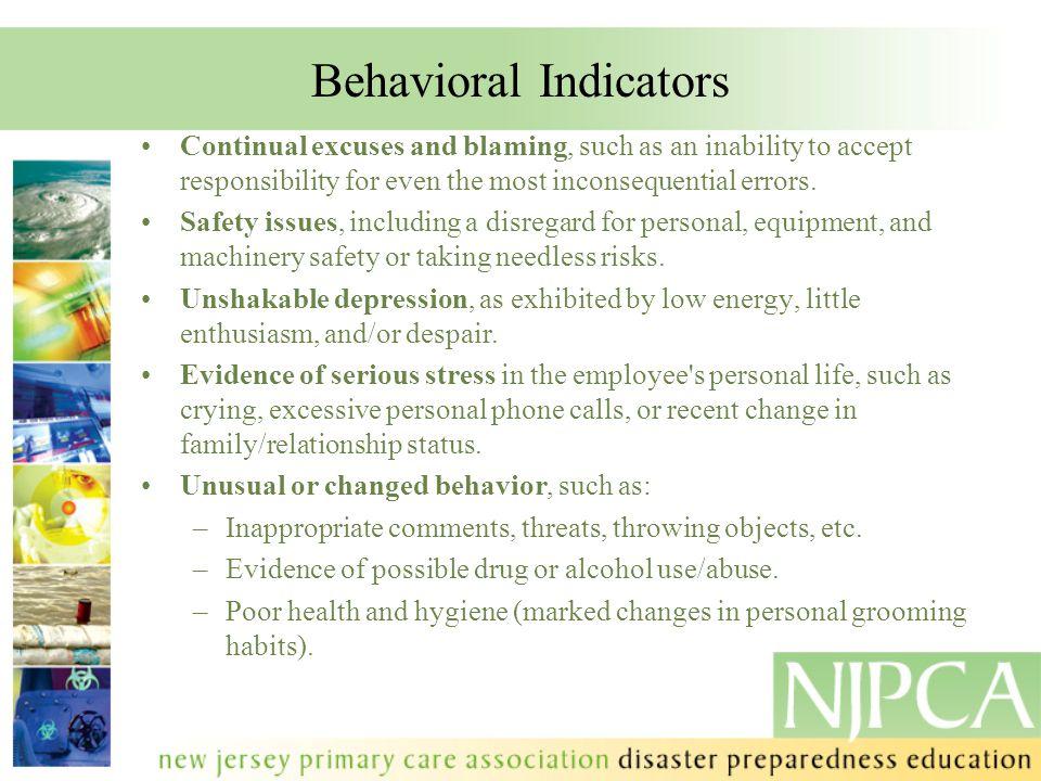 Behavioral Indicators