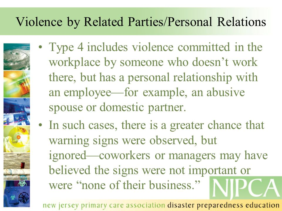 Violence by Related Parties/Personal Relations