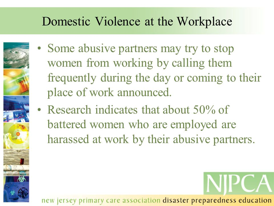 Domestic Violence at the Workplace