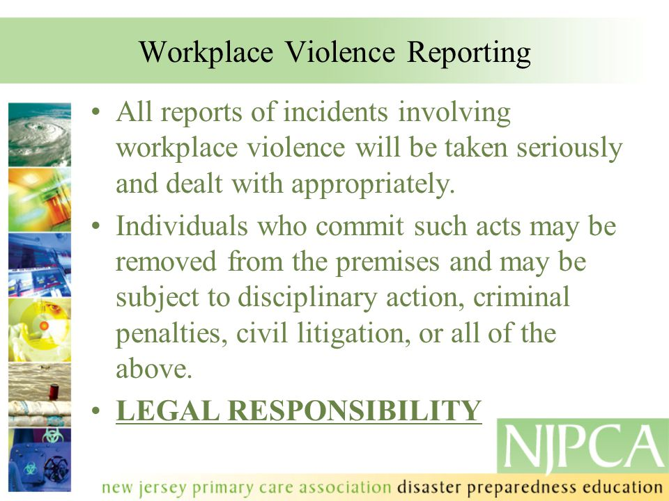 Workplace Violence Reporting