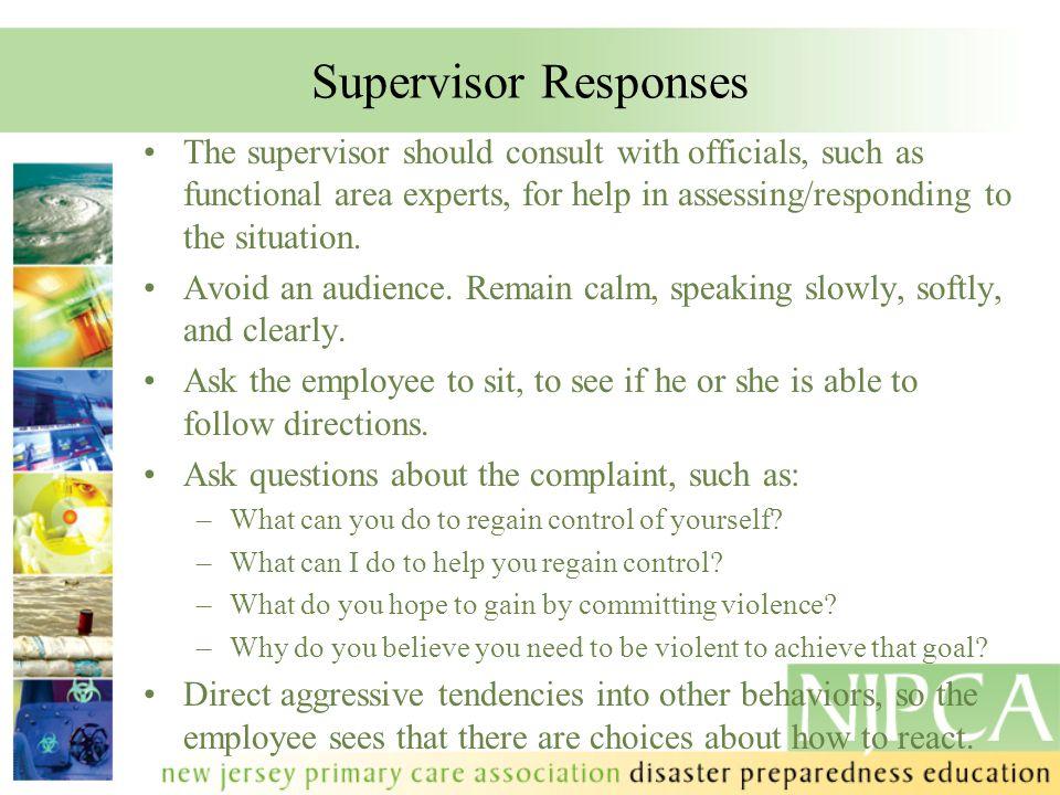 Supervisor Responses