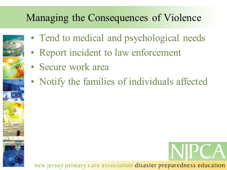 Managing the Consequences of Violence