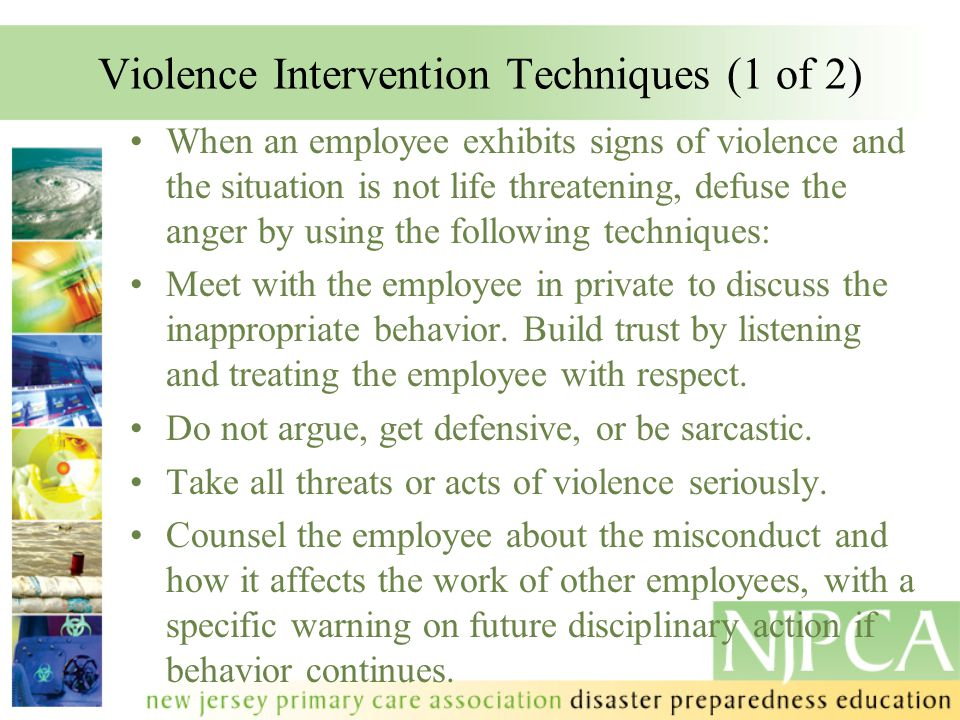 Violence Intervention Techniques (1 of 2)