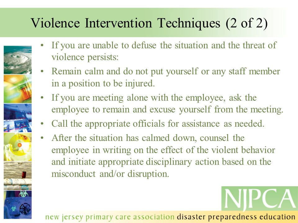 Violence Intervention Techniques (2 of 2)