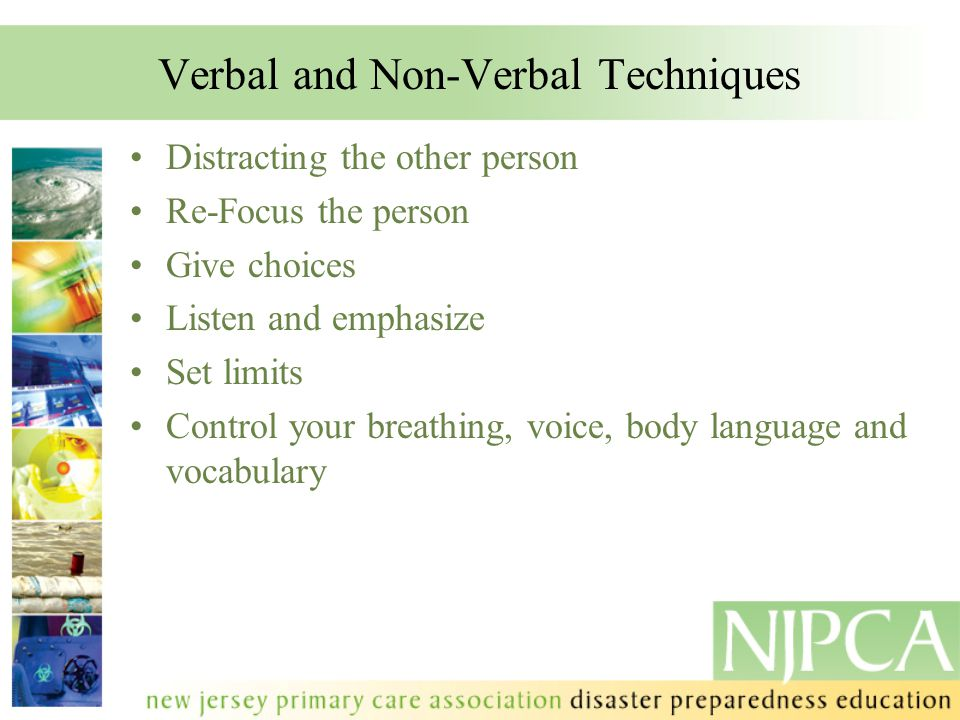 Verbal and Non-Verbal Techniques