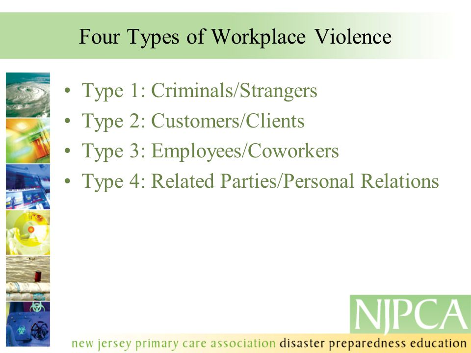 Four Types of Workplace Violence
