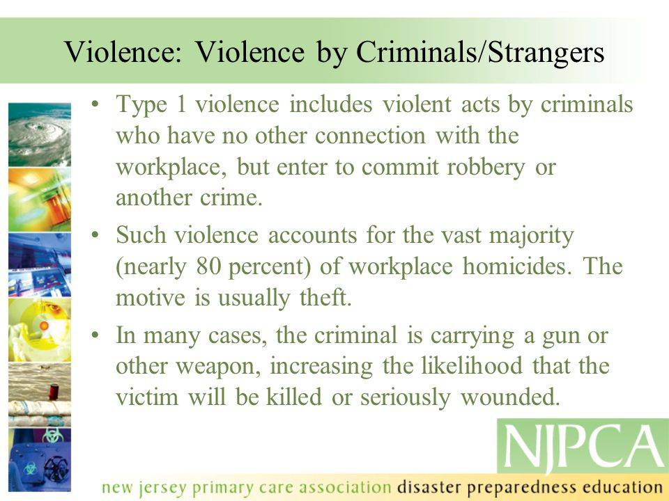 Violence: Violence by Criminals/Strangers