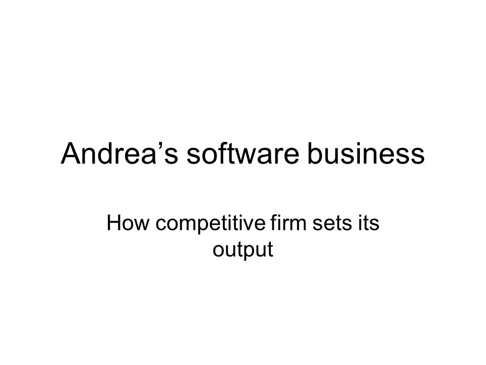 Andrea's software business