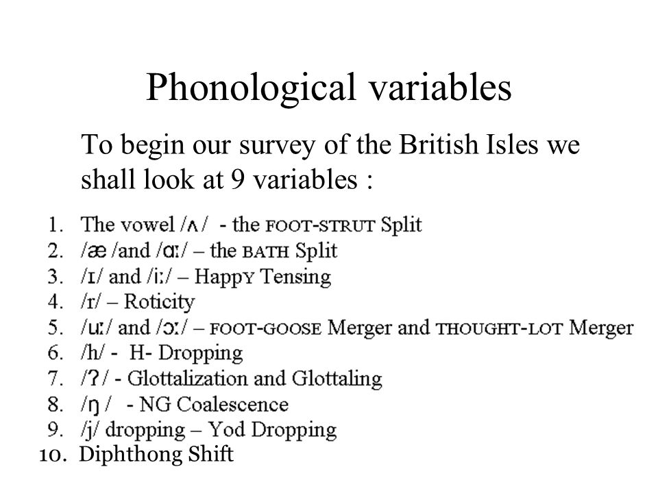 Phonological variables