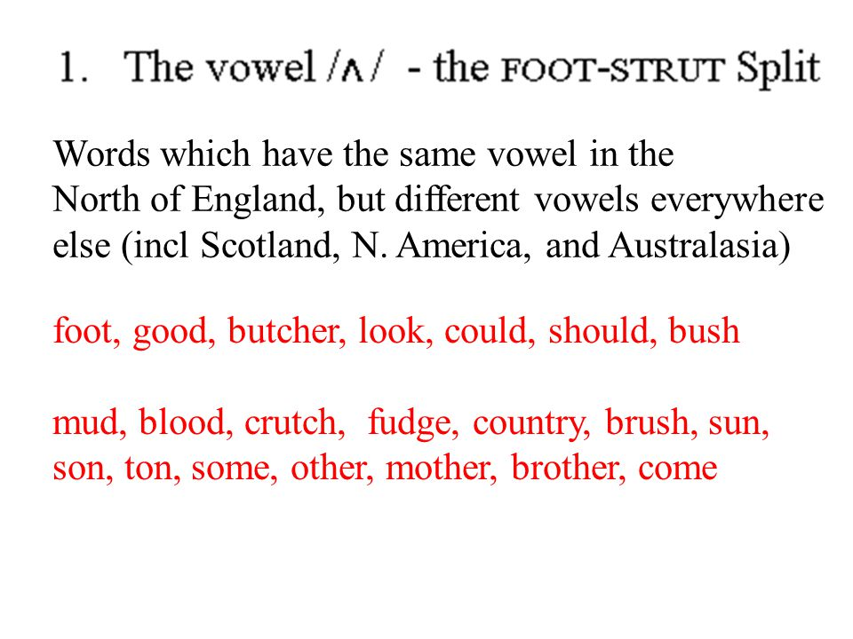Words which have the same vowel in the