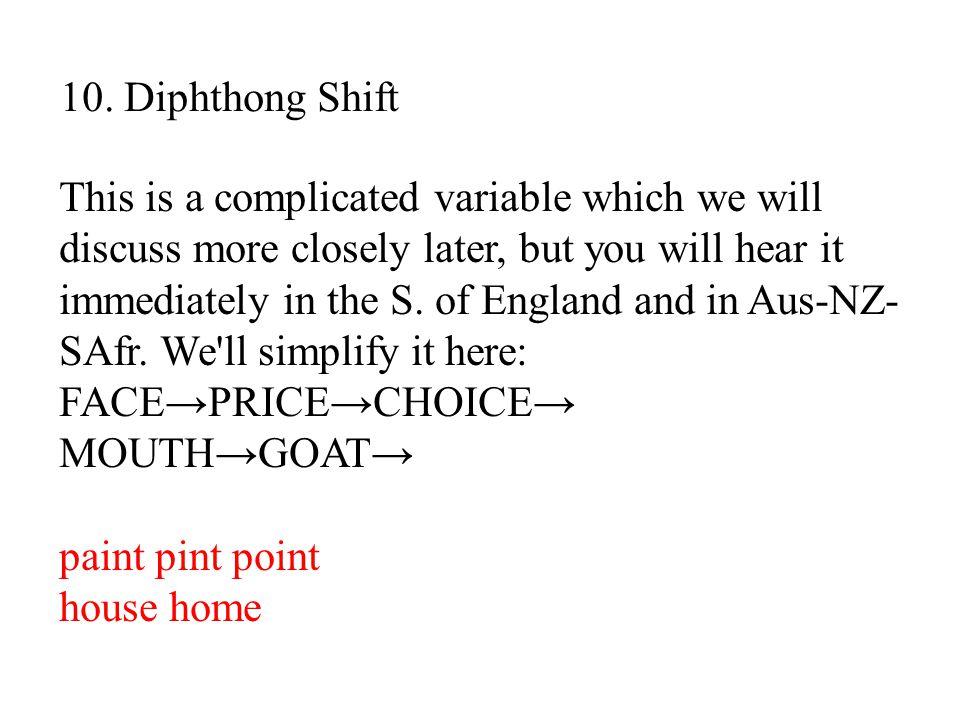 10. Diphthong Shift