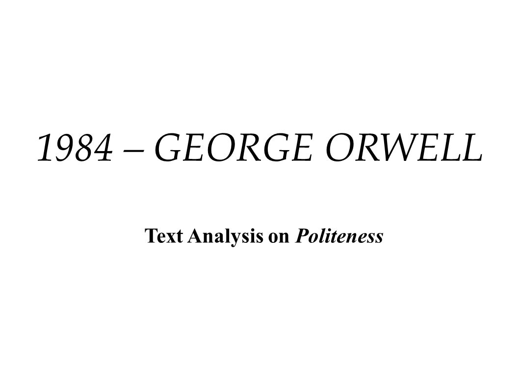 Text Analysis on Politeness