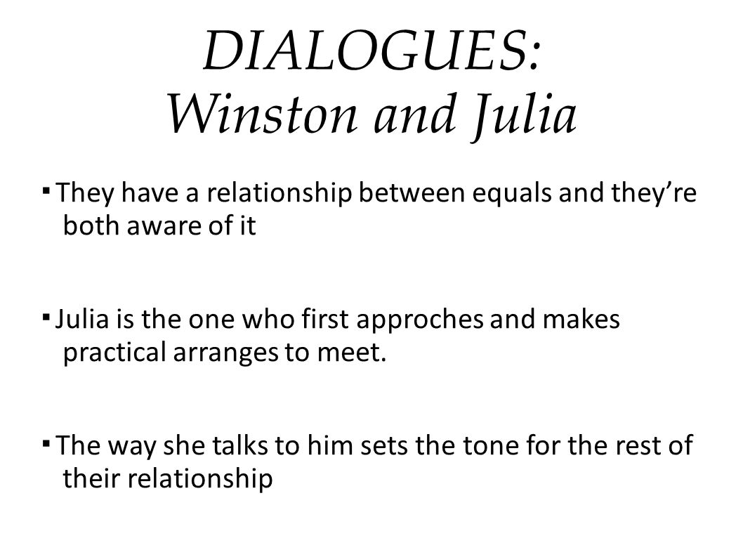 DIALOGUES: Winston and Julia