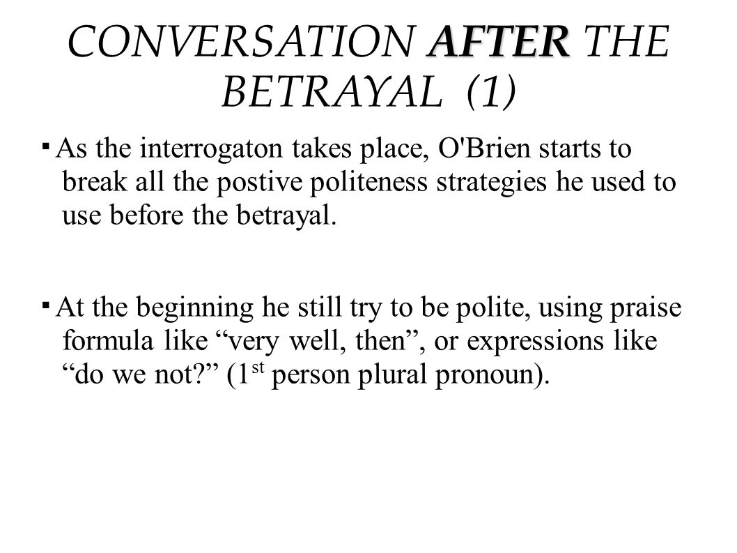 CONVERSATION AFTER THE BETRAYAL (1)