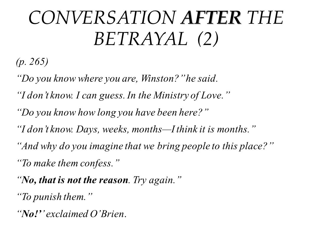 CONVERSATION AFTER THE BETRAYAL (2)