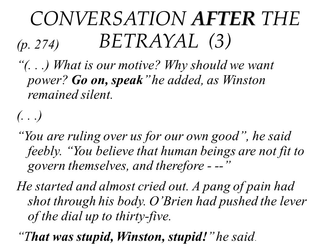 CONVERSATION AFTER THE BETRAYAL (3)