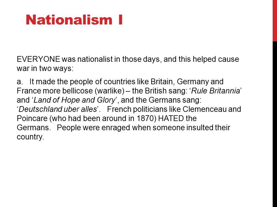 Nationalism I