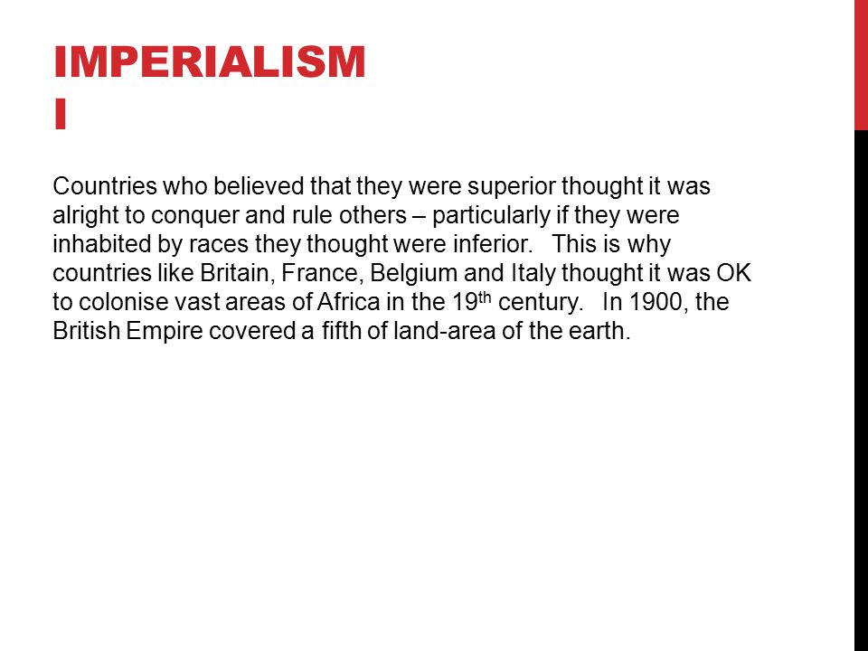 Imperialism I