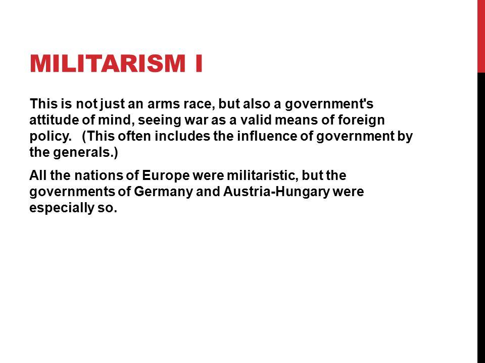 Militarism I