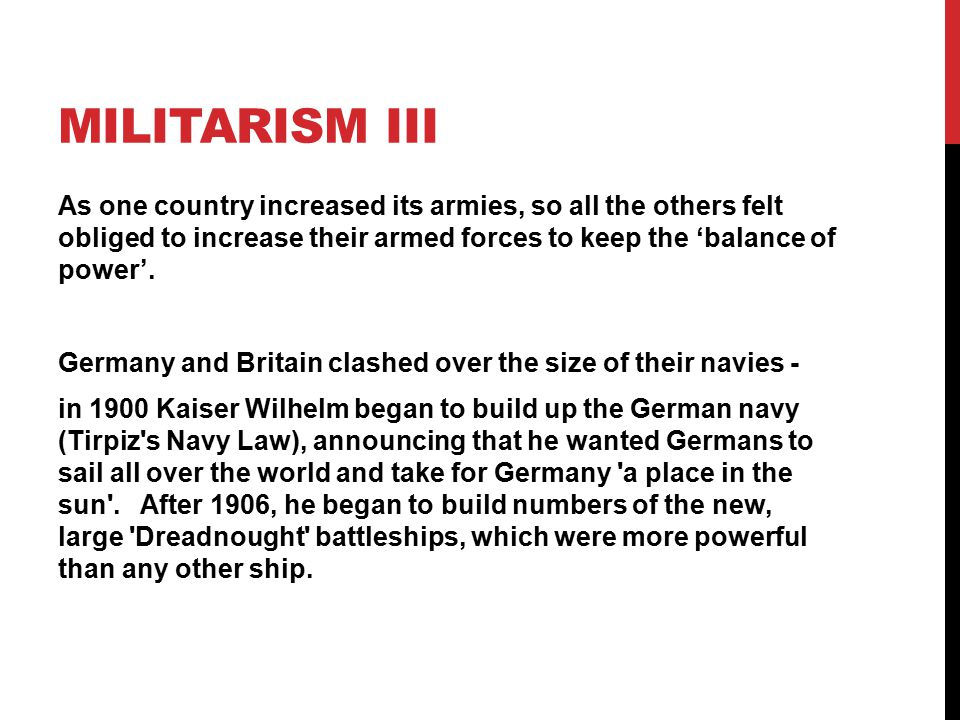 Militarism III