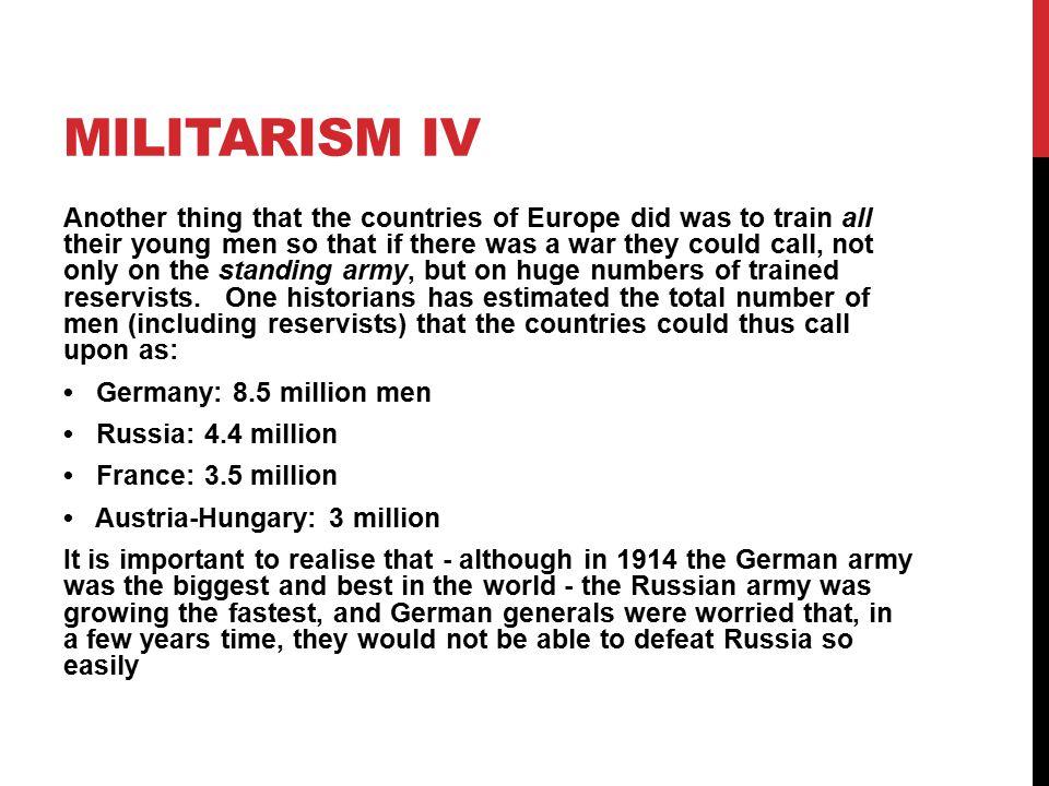 Militarism IV