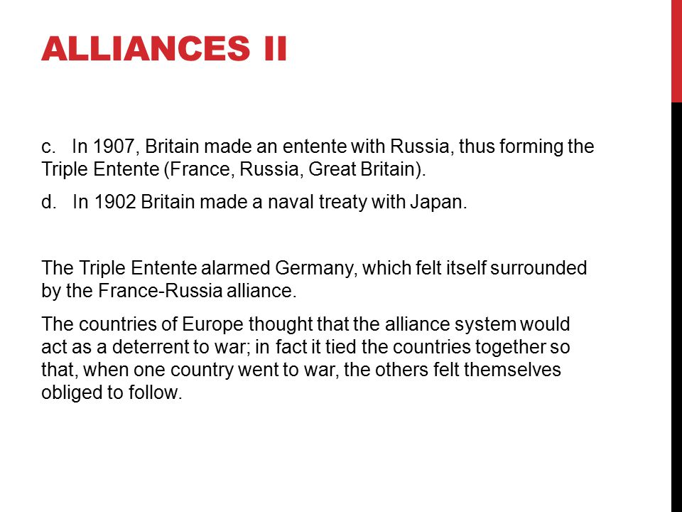 Alliances II