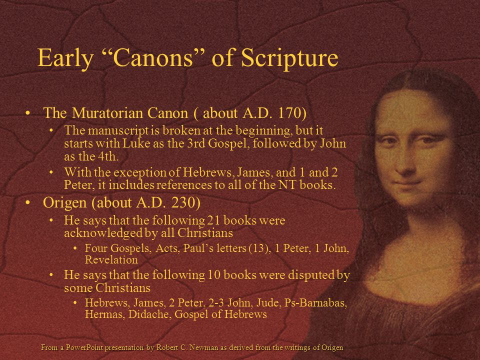 Early Canons of Scripture
