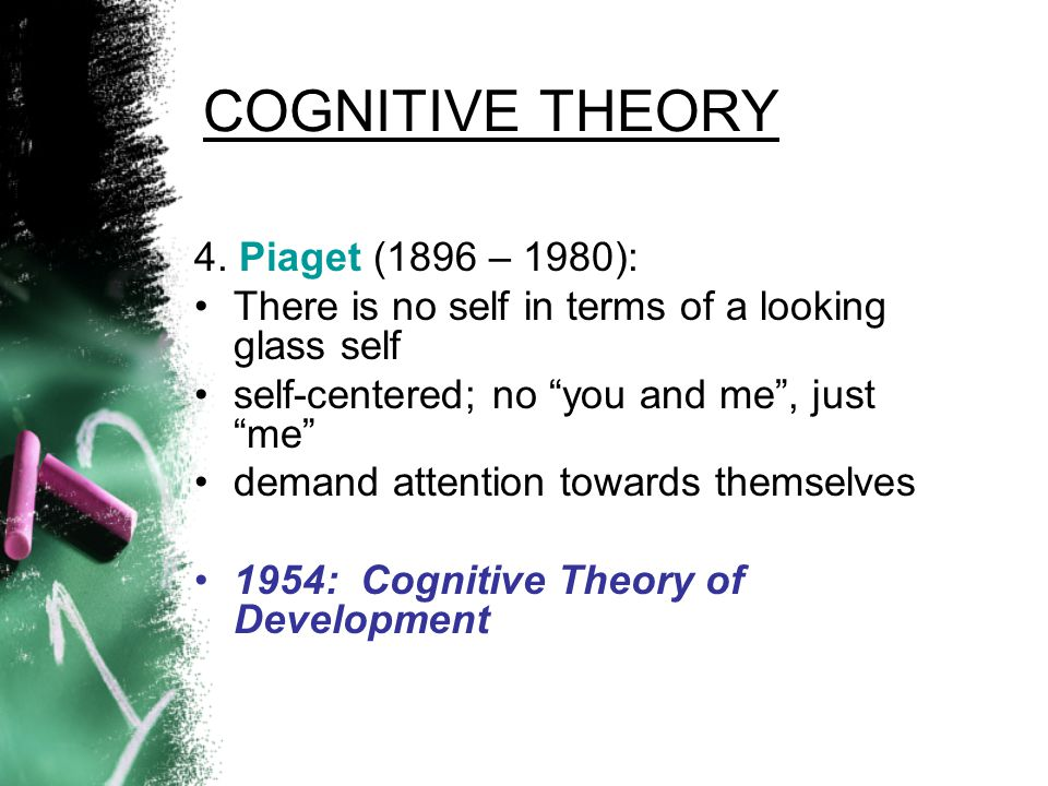 COGNITIVE THEORY 4. Piaget (1896 – 1980):