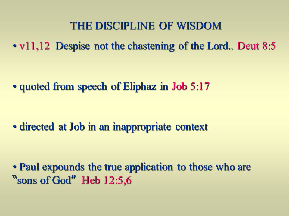 THE DISCIPLINE OF WISDOM