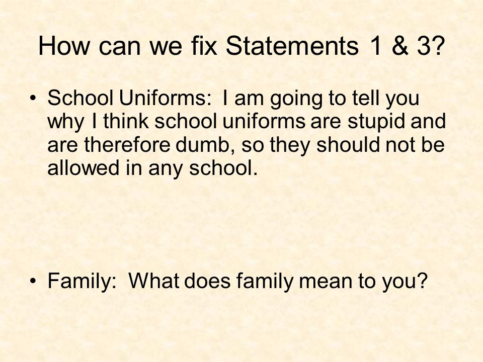 Essay: Why schools should not have uniforms