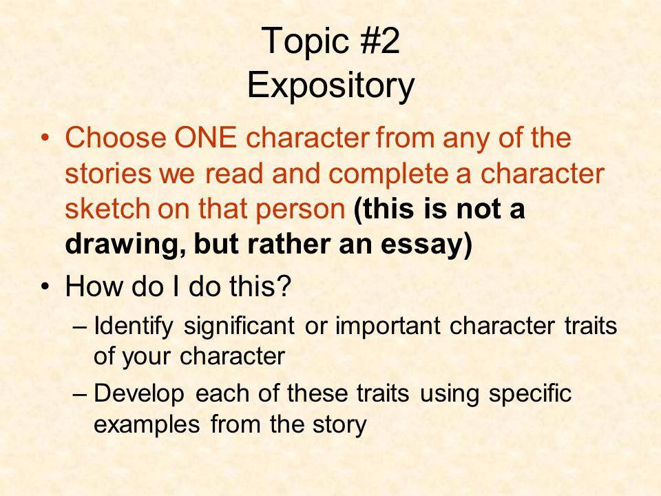define expository writing What is an expository essay riding on an approach that would satisfactorily address the above interrogative heading would be the best way the expository essay.