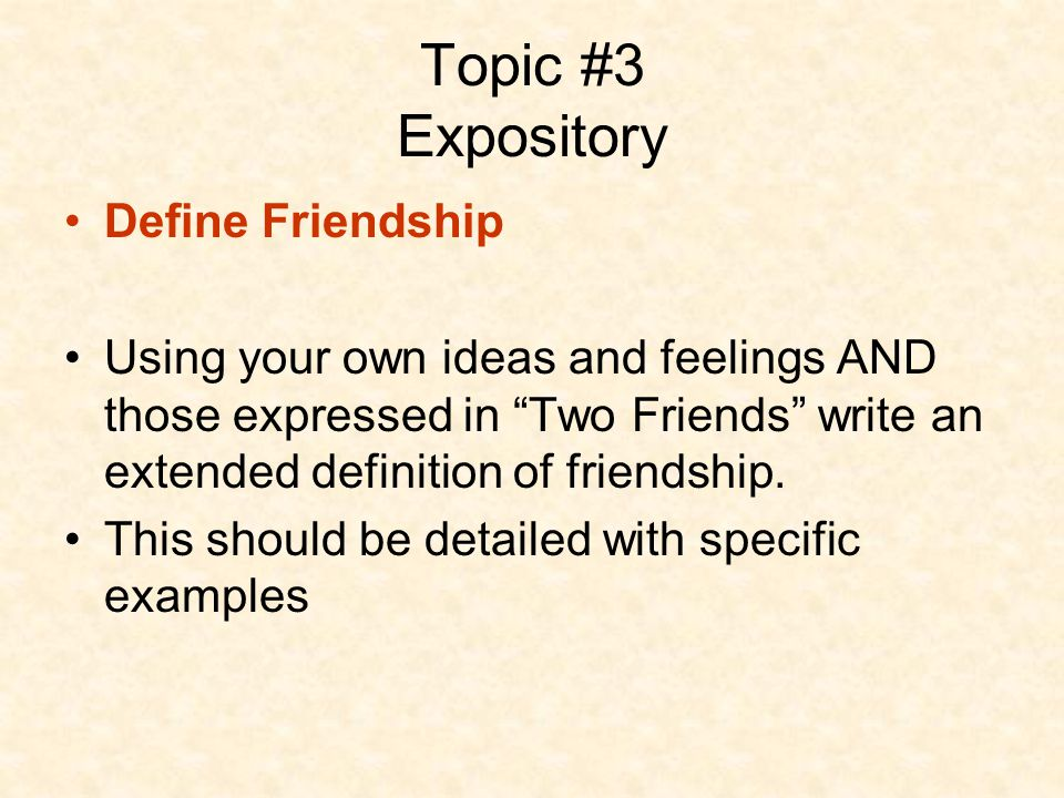 oppinion essay about friendship Friendship essay: a heartbreaking friendship - friendship is a single soul dwelling in two bodies - aristotle even now as i write this paper my heart is full of sorrowed and pity.