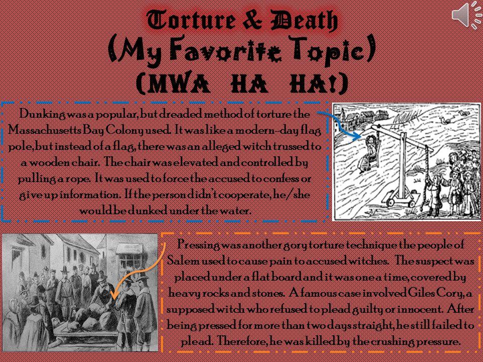 Torture & Death (My Favorite Topic) (MWA HA HA!)