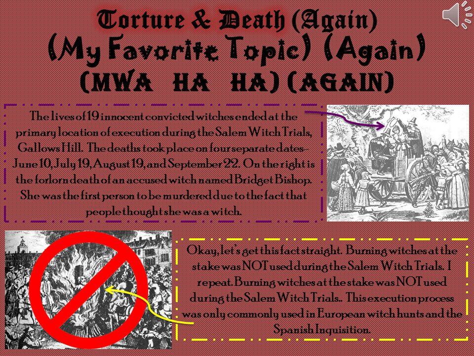 Torture & Death (Again) (My Favorite Topic) (Again)