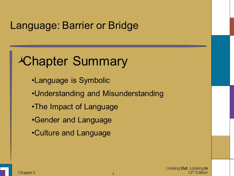 Language: Barrier or Bridge