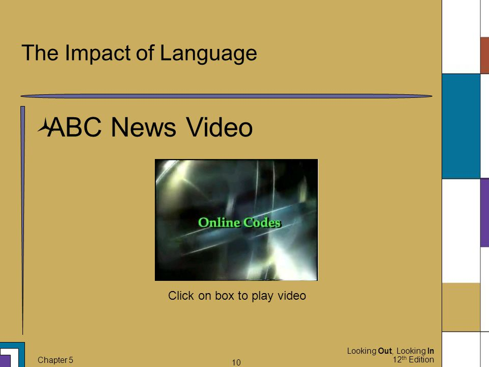 The Impact of Language ABC News Video Click on box to play video 10