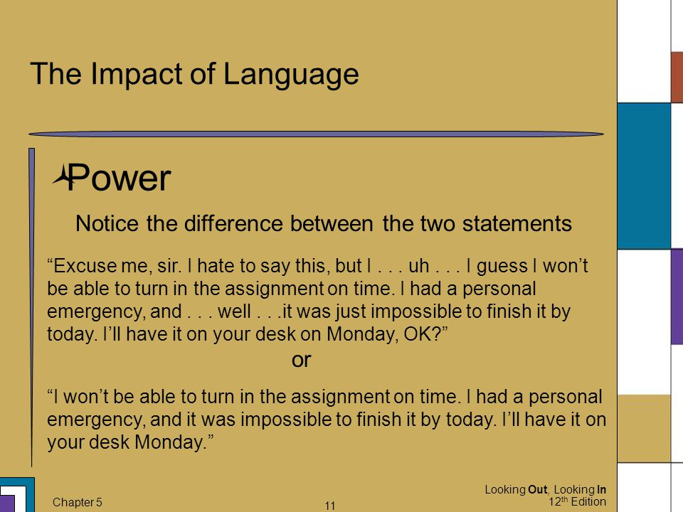Power The Impact of Language