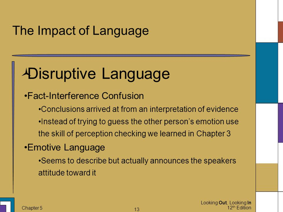 Disruptive Language The Impact of Language Fact-Interference Confusion