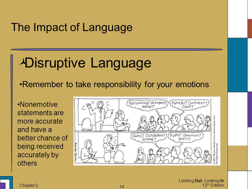 Disruptive Language The Impact of Language
