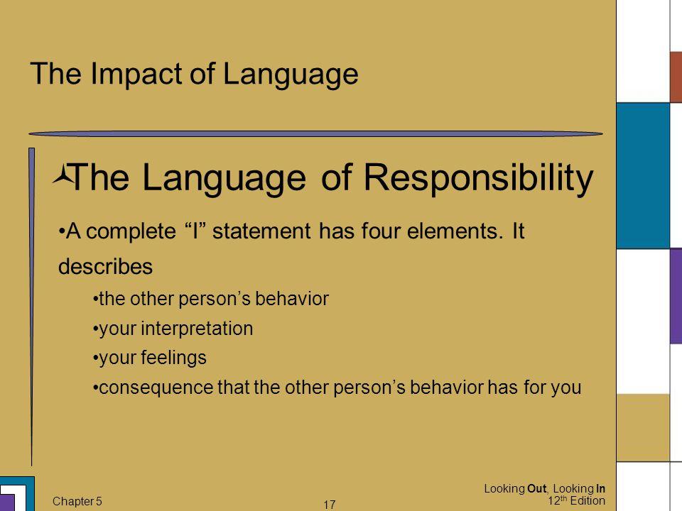 The Language of Responsibility