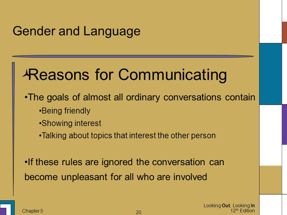 Reasons for Communicating