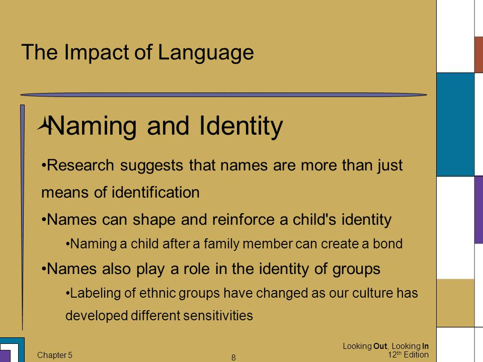 Naming and Identity The Impact of Language