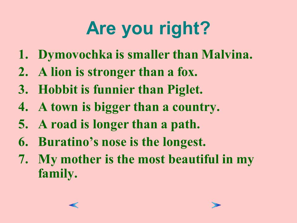 Are you right Dymovochka is smaller than Malvina.