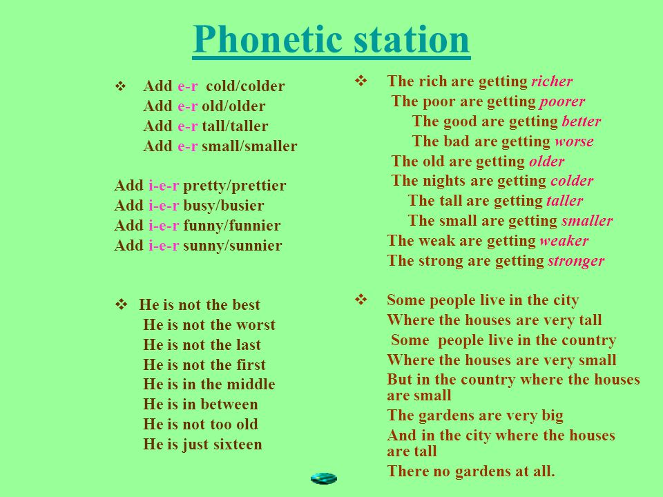 Phonetic station The rich are getting richer