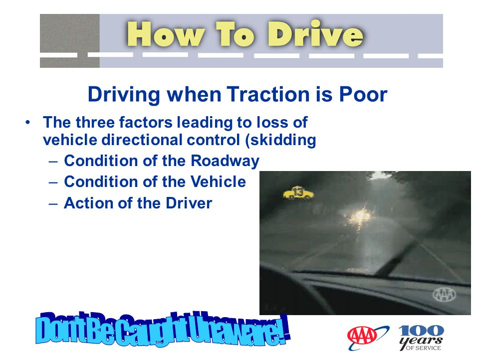 Driving when Traction is Poor