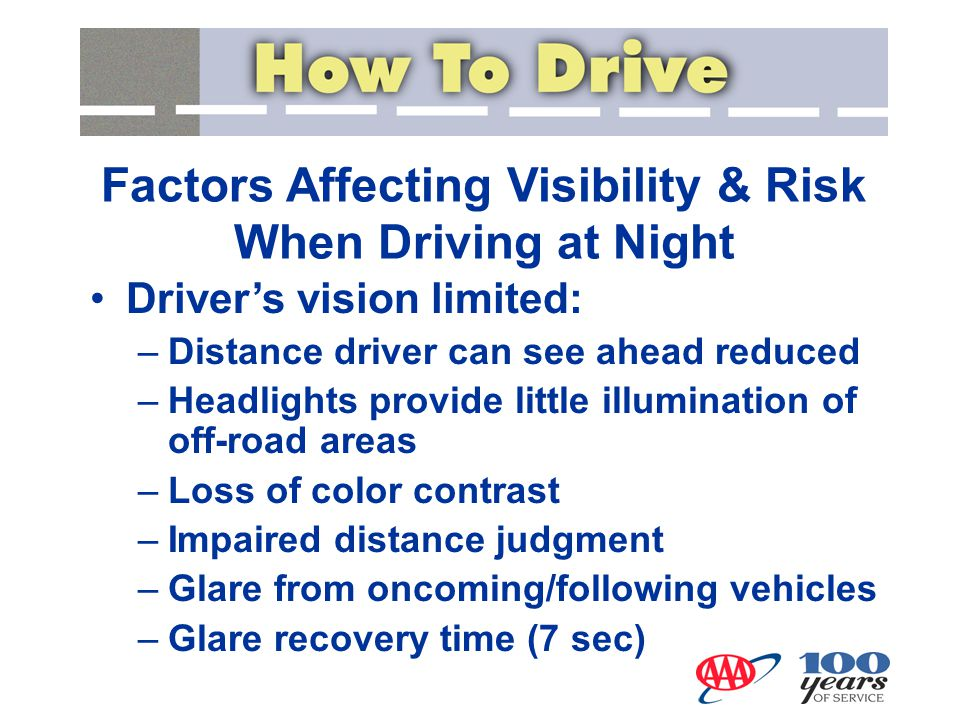 Factors Affecting Visibility & Risk When Driving at Night