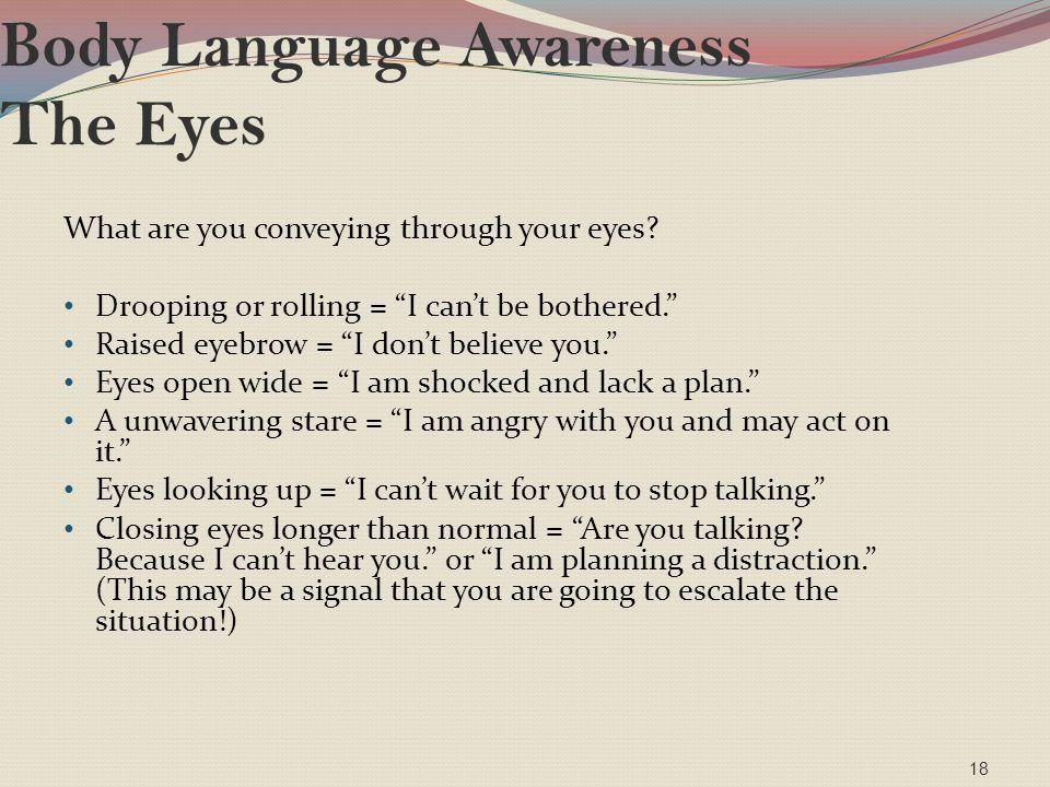 Body Language Awareness The Eyes