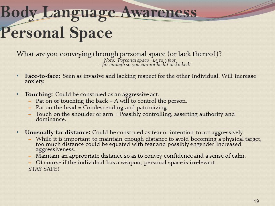 Body Language Awareness Personal Space