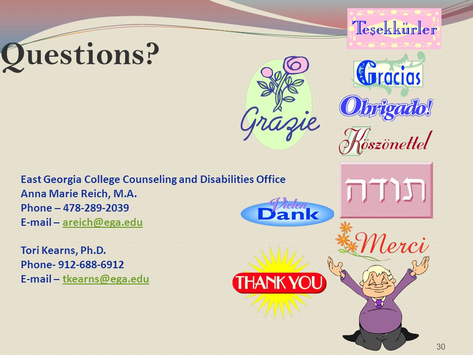 Questions East Georgia College Counseling and Disabilities Office